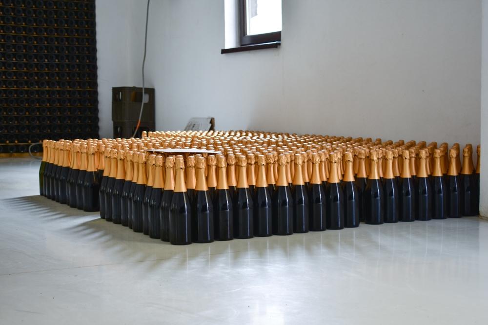 Producția de șampanie.